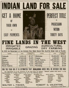 1910 advertisement for land