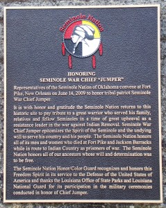 Honoring Seminole War Chief 'Jumper'